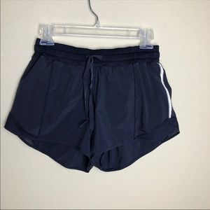 Lululemon Hotty Hot Shorts 8 Navy 4""